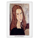 Portrait Of Jeanne Hébuterne [Head In Profile]., Card