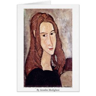 Portrait Of Jeanne Hébuterne [Head In Profile]., Card