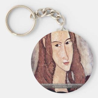 Portrait Of Jeanne Hébuterne [Head In Profile]., Keychains