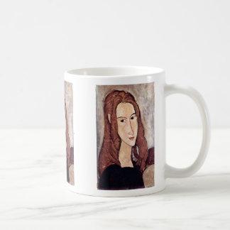 Portrait Of Jeanne Hébuterne [Head In Profile]., Coffee Mugs
