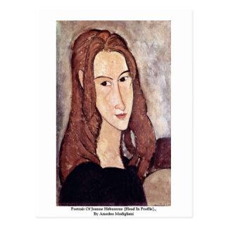 Portrait Of Jeanne Hébuterne [Head In Profile]., Postcard