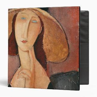 Portrait of Jeanne Hebuterne in a large hat Binder