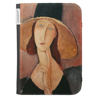 Portrait of Jeanne Hebuterne in a large hat Kindle Keyboard Cases
