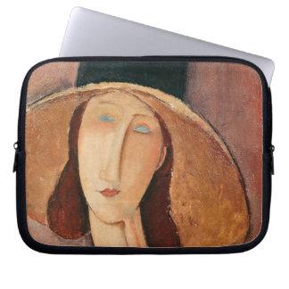 Portrait of Jeanne Hebuterne in a large hat Computer Sleeve