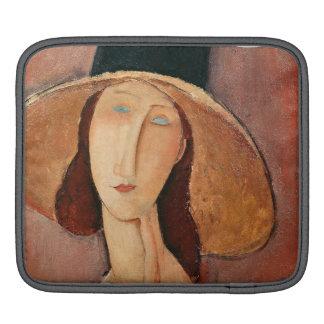 Portrait of Jeanne Hebuterne in a large hat iPad Sleeve