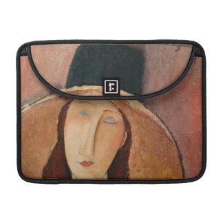 Portrait of Jeanne Hebuterne in a large hat MacBook Pro Sleeves