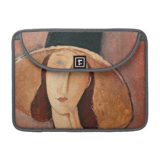 Portrait of Jeanne Hebuterne in a large hat Sleeves For MacBooks