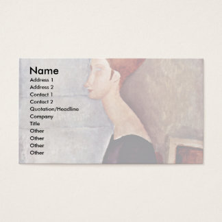 Portrait Of Jeanne Hébuterne In Dark Clothes Business Card