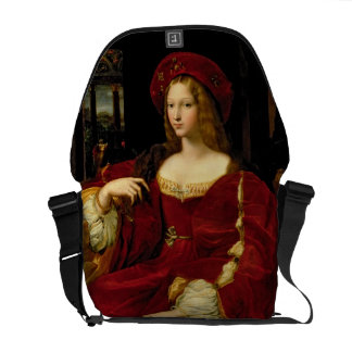 Portrait of Jeanne of Aragon (c.1500-77) wife of A Messenger Bag