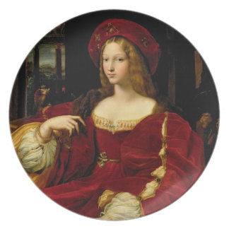 Portrait of Jeanne of Aragon (c.1500-77) wife of A Plate