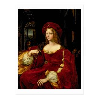 Portrait of Jeanne of Aragon (c.1500-77) wife of A Postcard