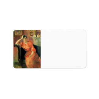 Portrait of Jeanne Pontillon by Berthe Morisot Custom Address Labels