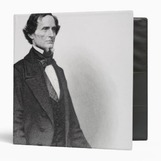 Portrait of Jefferson Davis 3 Ring Binder