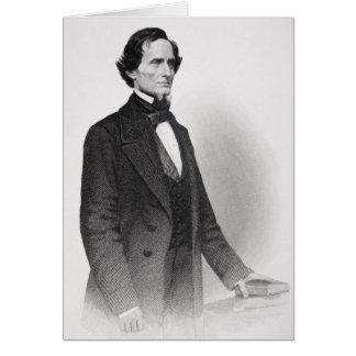 Portrait of Jefferson Davis Greeting Cards