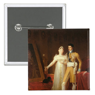 Portrait of Jerome Bonaparte  and his wife Pinback Button