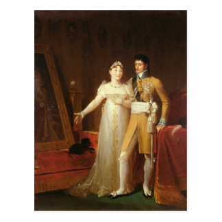Portrait of Jerome Bonaparte  and his wife Postcard