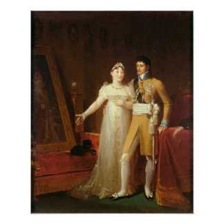 Portrait of Jerome Bonaparte  and his wife Poster