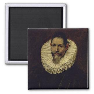 Portrait of Jeronimo de Cevallos, c.1610 2 Inch Square Magnet
