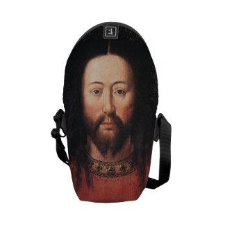 Portrait of Jesus Christ by Jan van Eyck Messenger Bag