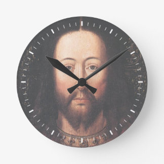 Portrait of Jesus Christ by Jan van Eyck Round Clock