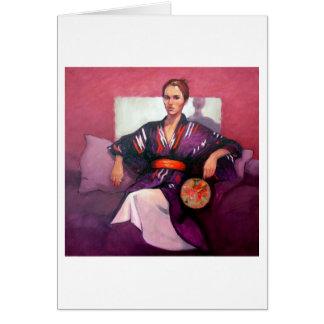 Portrait of Jo in Kimono Card