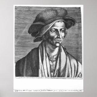 Portrait of Joachim Patinir, 1521 Poster