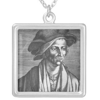 Portrait of Joachim Patinir, 1521 Silver Plated Necklace