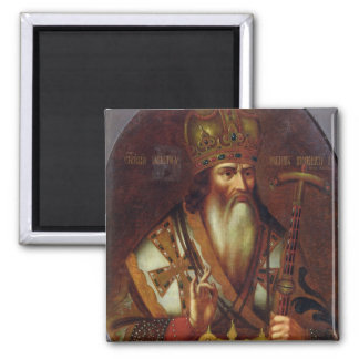 Portrait of Joachim, Patriarch of Moscow 2 Inch Square Magnet