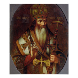 Portrait of Joachim, Patriarch of Moscow Poster