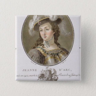Portrait of Joan of Arc (1412-31), 1787 (coloured Button