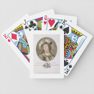 Portrait of Joan of Arc (1412-31), 1787 (coloured Bicycle Poker Deck