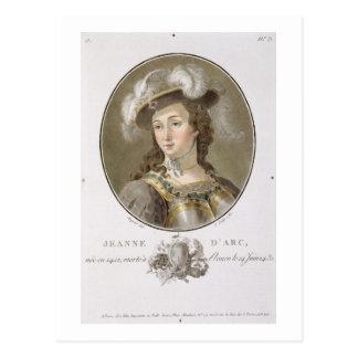 Portrait of Joan of Arc (1412-31), 1787 (coloured Postcard