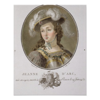 Portrait of Joan of Arc (1412-31), 1787 (coloured Poster