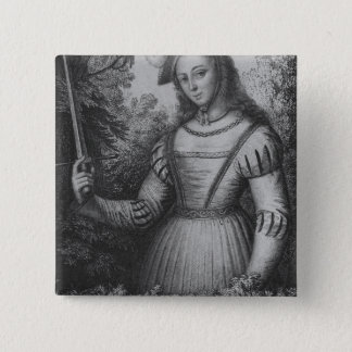 Portrait of Joan of Arc Pinback Button