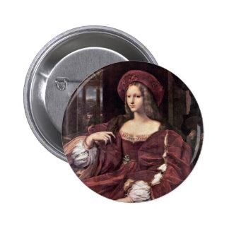 Portrait Of Joanna Of Aragon By Raffael Button