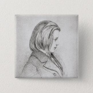 Portrait of Johanes Brahms  aged Twenty, 1853 Pinback Button