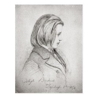Portrait of Johanes Brahms  aged Twenty, 1853 Postcard