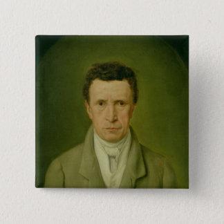 Portrait of Johann Friedrich Nikolaus Oldach Pinback Button