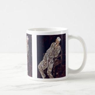 Portrait Of Johann Harms By Schiele Egon Mugs