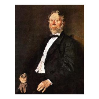 Portrait Of Johann Heinrich Pallenberg By Leibl Flyer