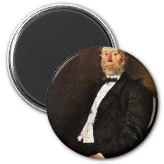 Portrait Of Johann Heinrich Pallenberg By Leibl Refrigerator Magnets
