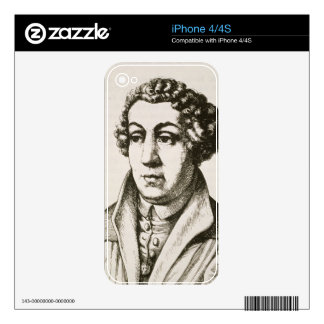 Portrait of Johann Reuchlin (1455-1522) copy of a Decals For iPhone 4S