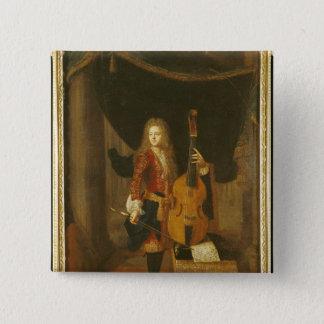 Portrait of Johann Schenck Pinback Button