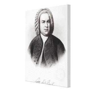 Portrait of Johann Sebastian Bach Canvas Print