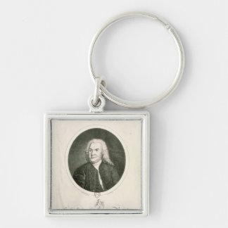 Portrait of Johann Sebastian Bach Keychain