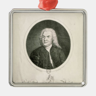 Portrait of Johann Sebastian Bach Metal Ornament