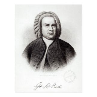 Portrait of Johann Sebastian Bach Postcards
