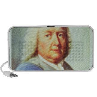 Portrait of Johann Sebastian Bach iPod Speakers