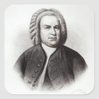Portrait of Johann Sebastian Bach Square Sticker
