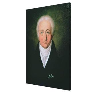 Portrait of Johann Wolfgang von Goethe , 1818 Canvas Print